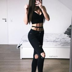 Shop for trendy swimwear, clothing and accessories for women at affordable prices Gothic Outfits, Edgy Outfits, Grunge Outfits, Summer Outfits, Fashion Outfits, Fashion Fashion, Fashion Trends, Badass Outfit, Outfit Goals
