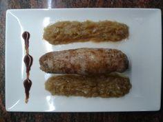 SOLOMILLO AL CARAMELO CON CEBOLLA CARAMELIZADA THERMOMIX Asparagus, Meat, Vegetables, Desserts, Recipes, Diy, Food, Caramelized Onions, Cold Cuts