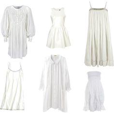One and Done White Dresses, created by lauramayes on Polyvore