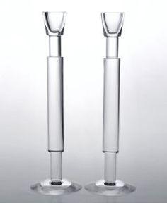 "Calvin Klein Home ""Geometry"" 12"" Candlestick Pair"