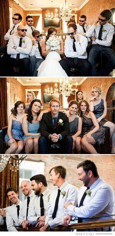 Nyk + Cali, Wedding Photographers | Franklin, TN | McConnell House | Creative wedding party ideas | Bridesmaids | Groomsmen | Fun