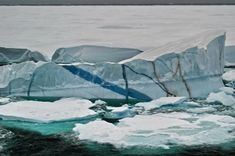 Antarctica's amazing striped icebergs