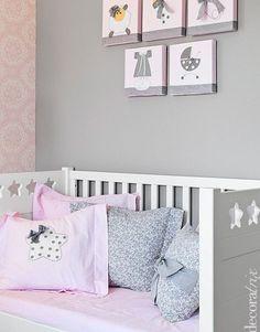 Habitación rosa gris