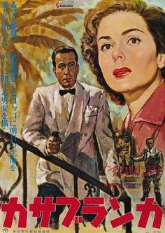Casablanca [Poster, 1 of 126 high-resolution movie posters in this group. Casablanca Movie, Casablanca 1942, Iconic Movies, Old Movies, Humphrey Bogart Casablanca, Male Movie Stars, New York, Art Through The Ages, Film Institute