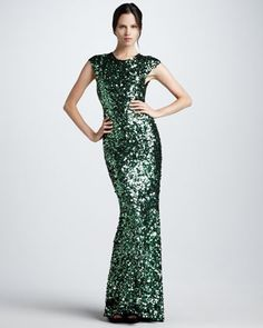 GiGi Sequined Gown by Alice + Olivia