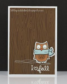 lawn fawn winter owl | Lawn Fawn - Into the Woods, Winter Owl _ cute card by Meghan