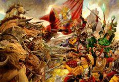 Empire vs Beastmen, par (auteur inconnu), in (source inconnue), par Games Workshop