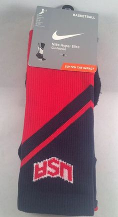 25eb57294 New Nike Hyper Elite Mens Basketball Socks Shoe Size 6-8 Women s 6-10
