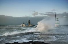 boat storm lighthous