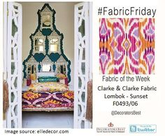 Bring Moroccan influence into your home with a bright Ikat fabric in rich purple, pink and orange. #decor #interior