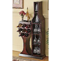 Conversation Piece Wine Bottle and Wine Glass Rack