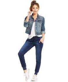 Celebrity Pink Jeans Juniors' Denim Jogger Pants
