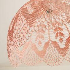 maillo: MaillO Design Lace Lampshade, Crochet Lampshade, Lampshades, Thread Crochet, Lace Knitting, Lampe Crochet, Home Decor Lights, Crochet Decoration, Textile Fiber Art