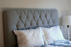 Here it comes... Profesh headboard tufting tutorial!: Create / Enjoy
