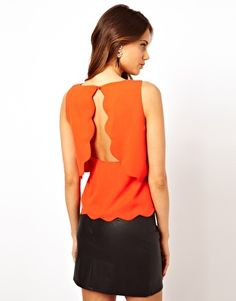 Rare Scallop Top with Open Back  Get 7% cash back at http://www.studentrate.com/all/get-all-student-deals/ASOS-Student-Discount--/0