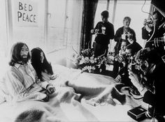 John and Yoko's Amsterdam 'bed-in' protest lasted seven days (PA)