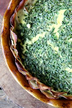 Tartine's potato-crusted quiche with herbs