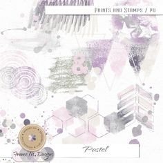 Pastel - Paints and Stamps by France M. Designs   September 2014 Memory Mix @ Memory Scraps