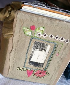 art quilt journal, sisters (sold)
