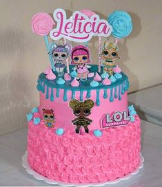Cake decoration ideas kids party planning ideas for 2019 Doll Birthday Cake, Funny Birthday Cakes, 6th Birthday Parties, Funny Cake, 7th Birthday, Birthday Cake Decorating, Birthday Party Decorations, Bolo Mickey Baby, Lol Doll Cake