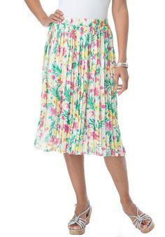 Pleated Midi Skirt (