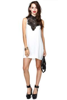 Tied Crochet Dress - Ivory - Going Out