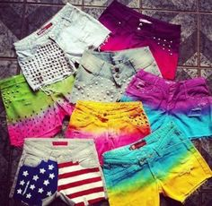 Dip dyed shorts