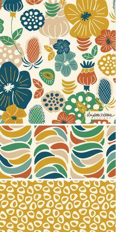 Nostalgia Collection // Surface Pattern Design by Beth Schneider // Elizabeth Victoria Designs