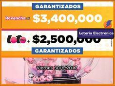 Esta noche Lotería Electrónica de Puerto Rico - Juego Loto tiene un premio de $2,500,000 dolares, mientras el Juego Doble Revancha con premio acumulado de $3,400,000...