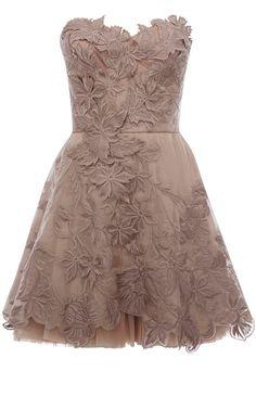 Romantic embroidery dress-bridesmaids