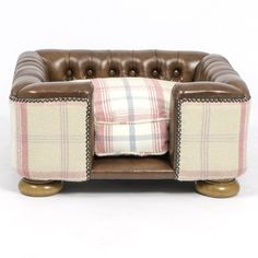 Lords & Labradors The Burghley Square Half Leather Dog Chesterfield Sorbet, £456.00