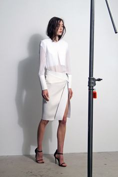 White look with sheer details