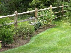 Beauiful Garden Split Rail Fence Gate