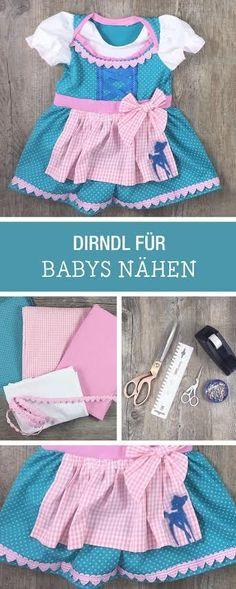 Perfekte Nähanleitung fürs Oktoberfest: Süßes Dirndl für Babys nähen / cute sewing tutorial for a baby dirndl, Munich beer festival via DaWanda.com
