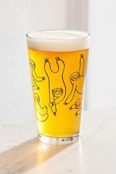 Urban Outfitters Sloth Pint Glass