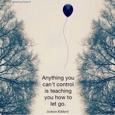 Letting go...
