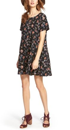Crushing on this floral dress paired with cute lace up sandals for a chic boho vibe.