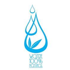 Ilustración de agua mineral — Ilustración de stock Agua Mineral, Mineral Water, Aquafresh, Water Logo, Illustration, Water Drops, Minerals, Crystals, Illustrations
