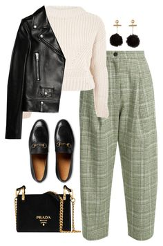 """Untitled #4394"" by magsmccray ❤ liked on Polyvore featuring Natasha Zinko, Topshop, Yves Saint Laurent, Gucci and Prada"