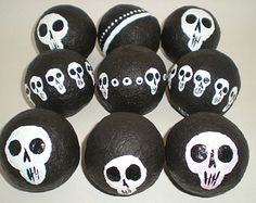 Skull Hand painted Eco Rattles Skull themed shakers Unique Instrument