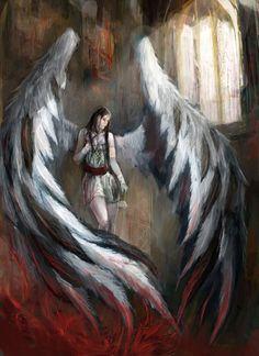 Fallen Angel - 30 Mind-Blowing Examples of Angel Art  <3 <3