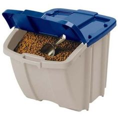 $13.63 Suncast 72 Quart Food Storage Bin  Holds 50 lbs of dog food FOR MAX