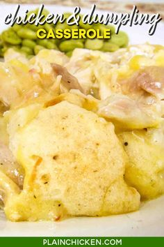 Chicken Chicken Dumpling Casserole, Chicken And Dumplings, Cream Of Chicken Soup, Easy Main Dish Recipes, Quick Recipes, Quick Easy Meals, Food Dishes, Main Dishes, Recipe Folder