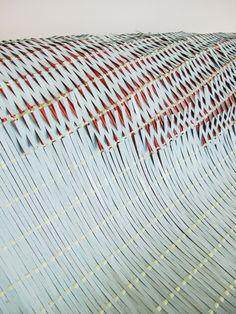Box wood, cotton, insulation foam by Jane Evans