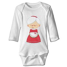 Natal Christmas White Long Sleeves Baby Bodysuit Onesies * Want to know more, visit