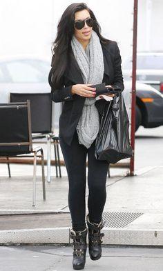 Shoes – Burberry  Pants – LnA  Scarf – Paula Bianco  Sunglasses – Carrera  Jacket – Helmut Lang