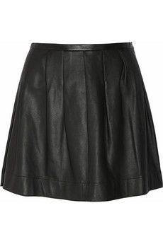 black leather skirt: tuck a loose tank in, extra cute and fem