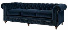 Universal Furniture Berkley Sofa In Blue Velvet Velvet Chair, Brown Sofa, Velvet Sofa, Sofa, Blue Velvet Sofa, Wood Sofa, Couch, Curved Sofa, Velvet Sofa Set