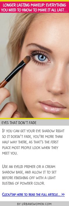 Longer lasting makeup: Everything you need to know to make it all last... - Eyes that don't fade