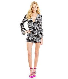 Lucy Paris Palm Romper #Dillards